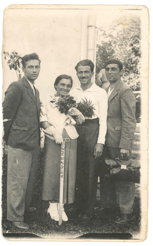 One of the only photos of my gradparents and two brothers before the war.