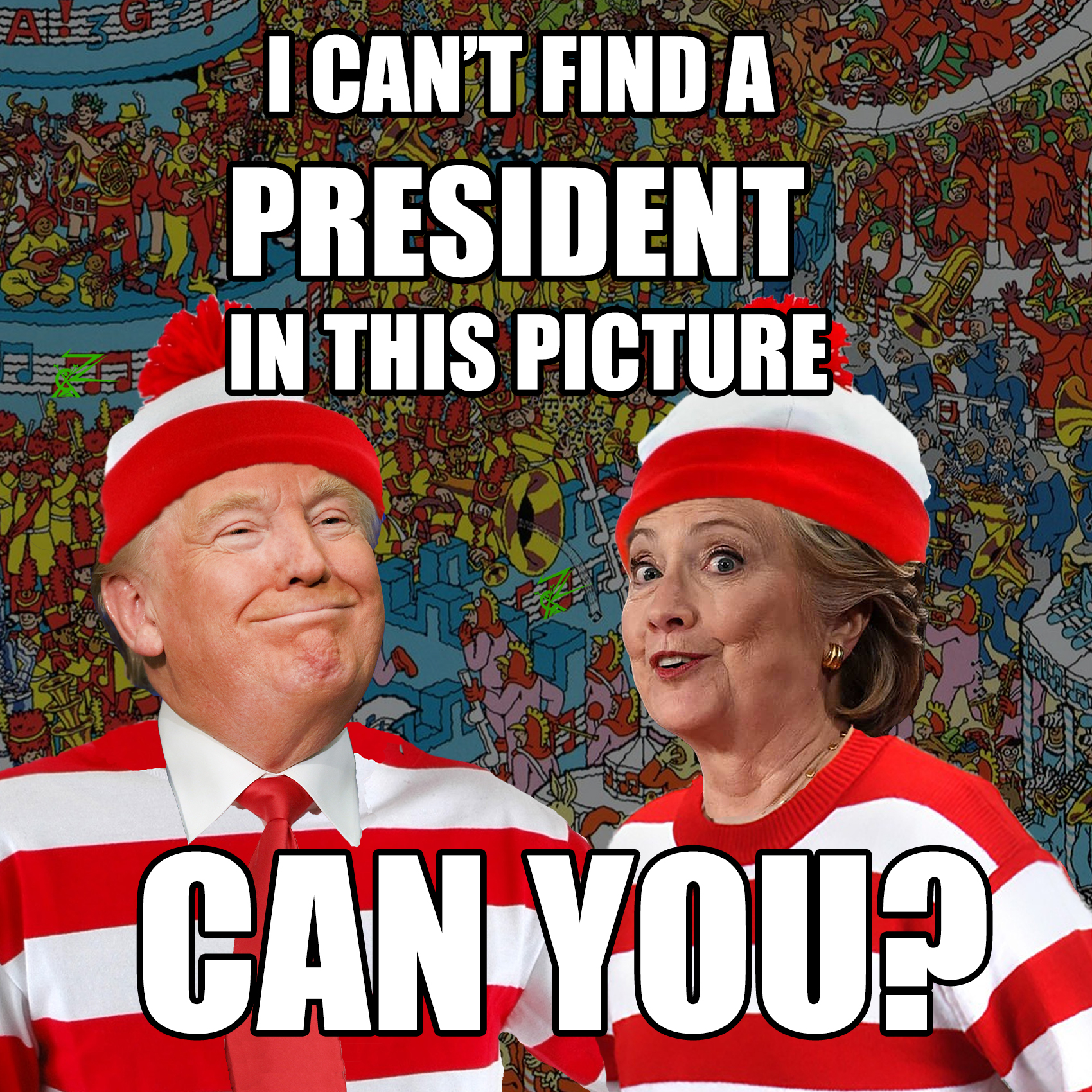 I can't find a president in this picture. Can you?